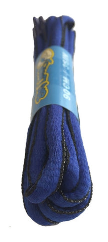 Royal Blue and Black Oval Running Shoe Shoelaces