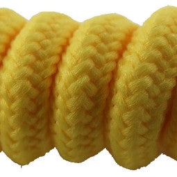 Curly Beach Yellow Shoelaces