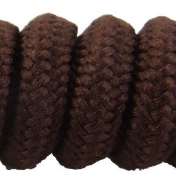 Curly Brown Shoelaces