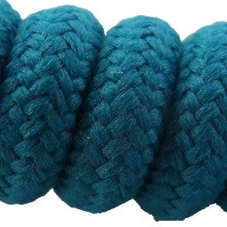 Curly Teal Shoelaces