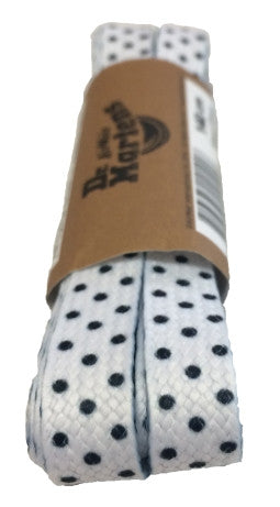 Dr Martens Flat White Dots Laces