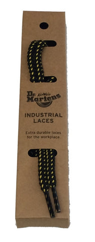 Dr Martens Round Black Yellow Industrial Laces