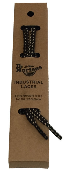 Dr Martens Round Brown Cream Industrial Laces