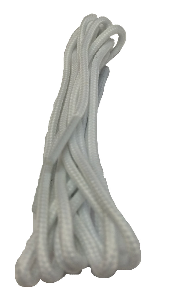 Thin White Dress Shoelaces - 2mm wide