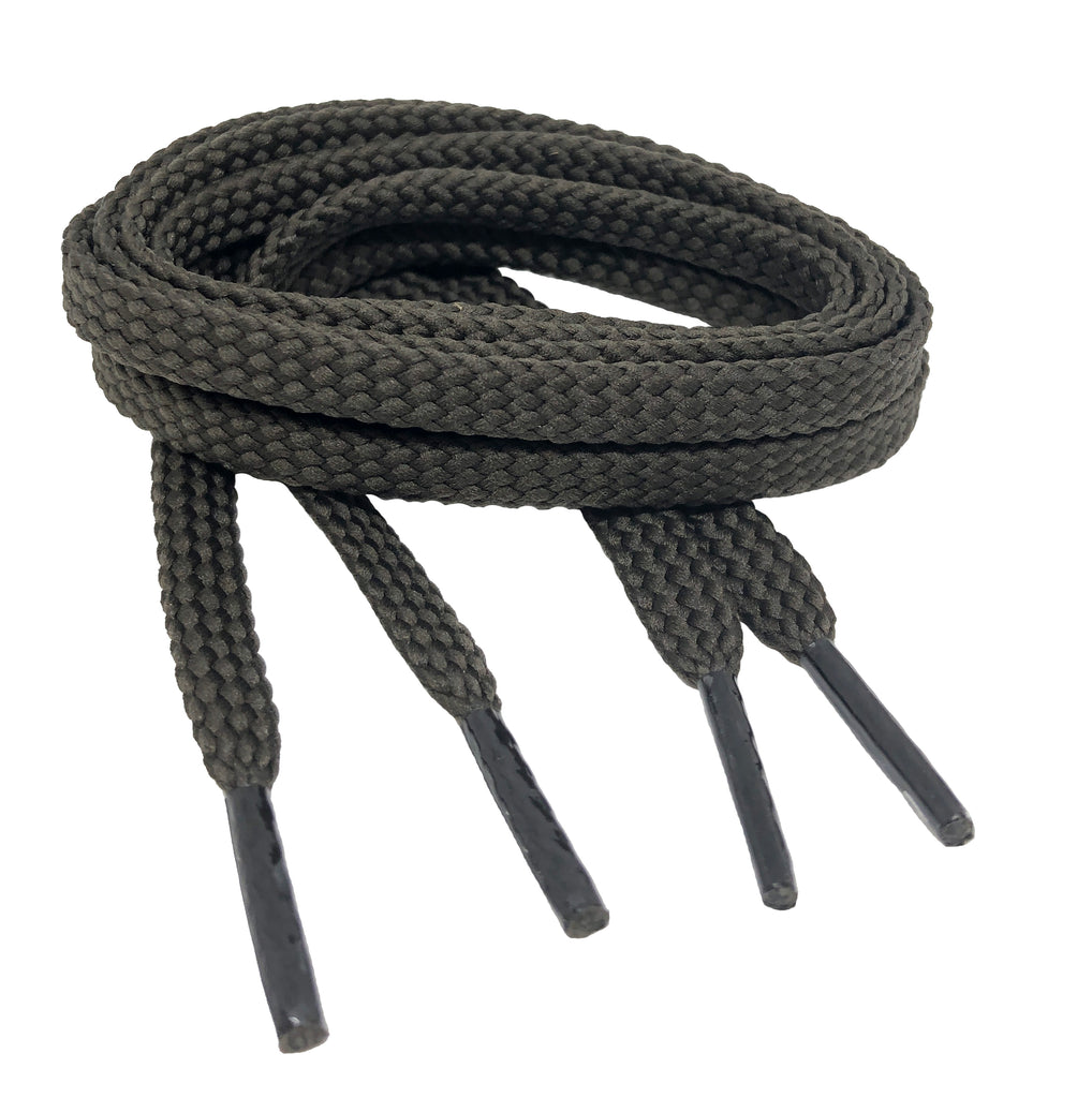 Flat Brown Shoelaces - 7mm wide