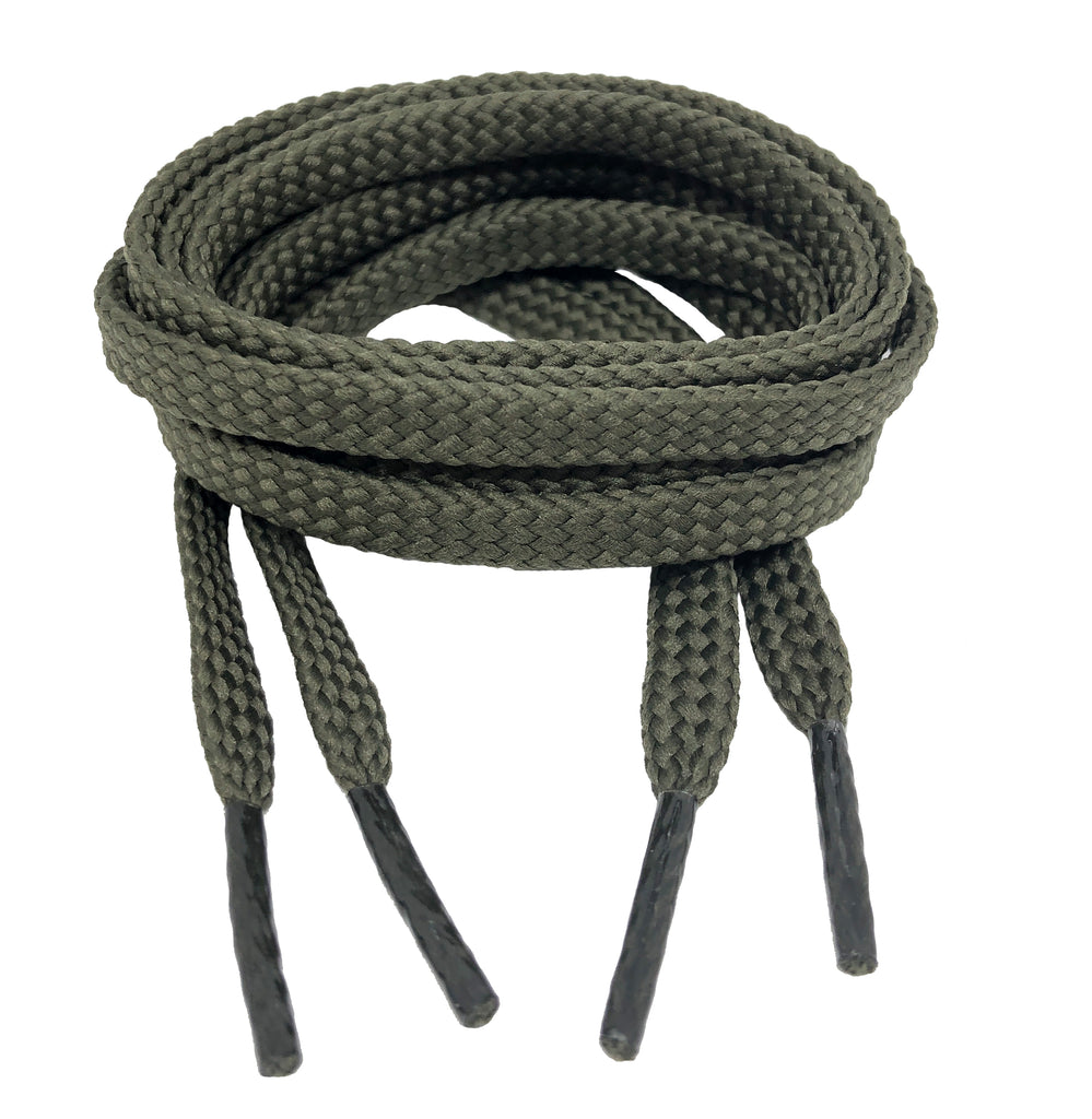 Flat Khaki Shoelaces - 7mm wide