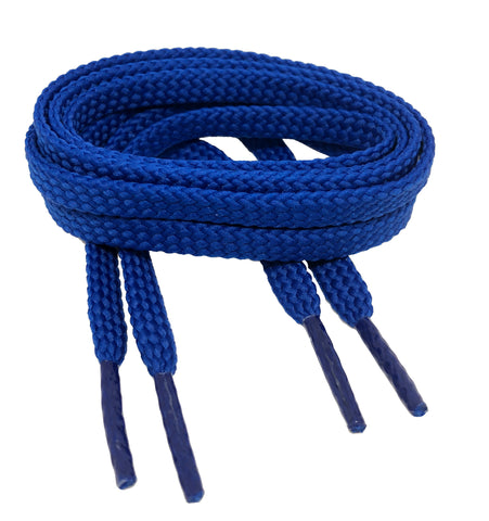 Flat Royal Blue Shoelaces - 7mm wide