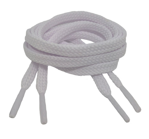Flat White Shoelaces - 7mm wide