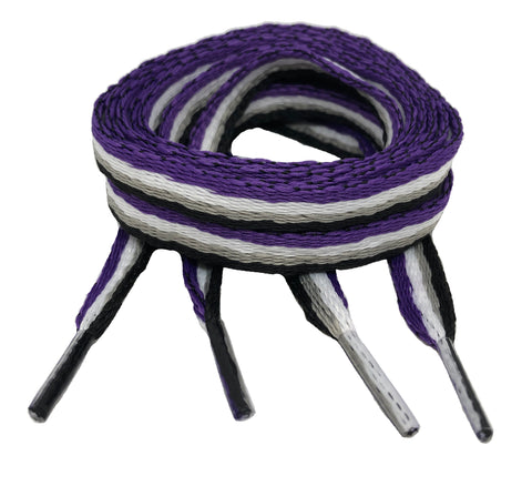 Flat Ace Pride Shoelaces - 10mm wide