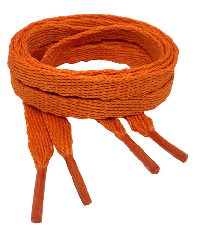 Flat Burnt Orange Shoelaces - 10mm wide