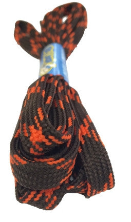 Flat Brown and Orange Bootlaces