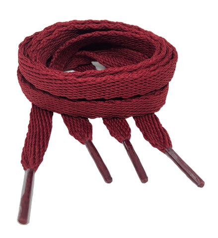 Flat Burgundy Shoelaces - 10mm wide