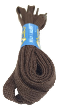 Flat Brown Cotton Shoelaces