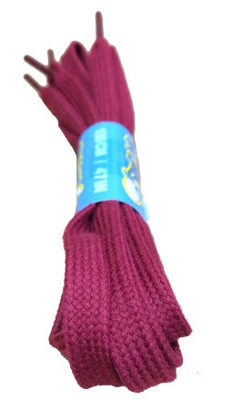 Flat Burgundy Cotton Shoelaces