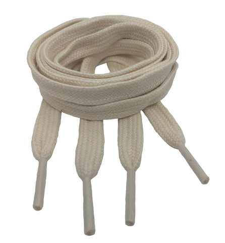 Flat Natural Cotton Shoelaces