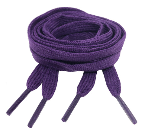 Flat Cotton Purple Shoelaces