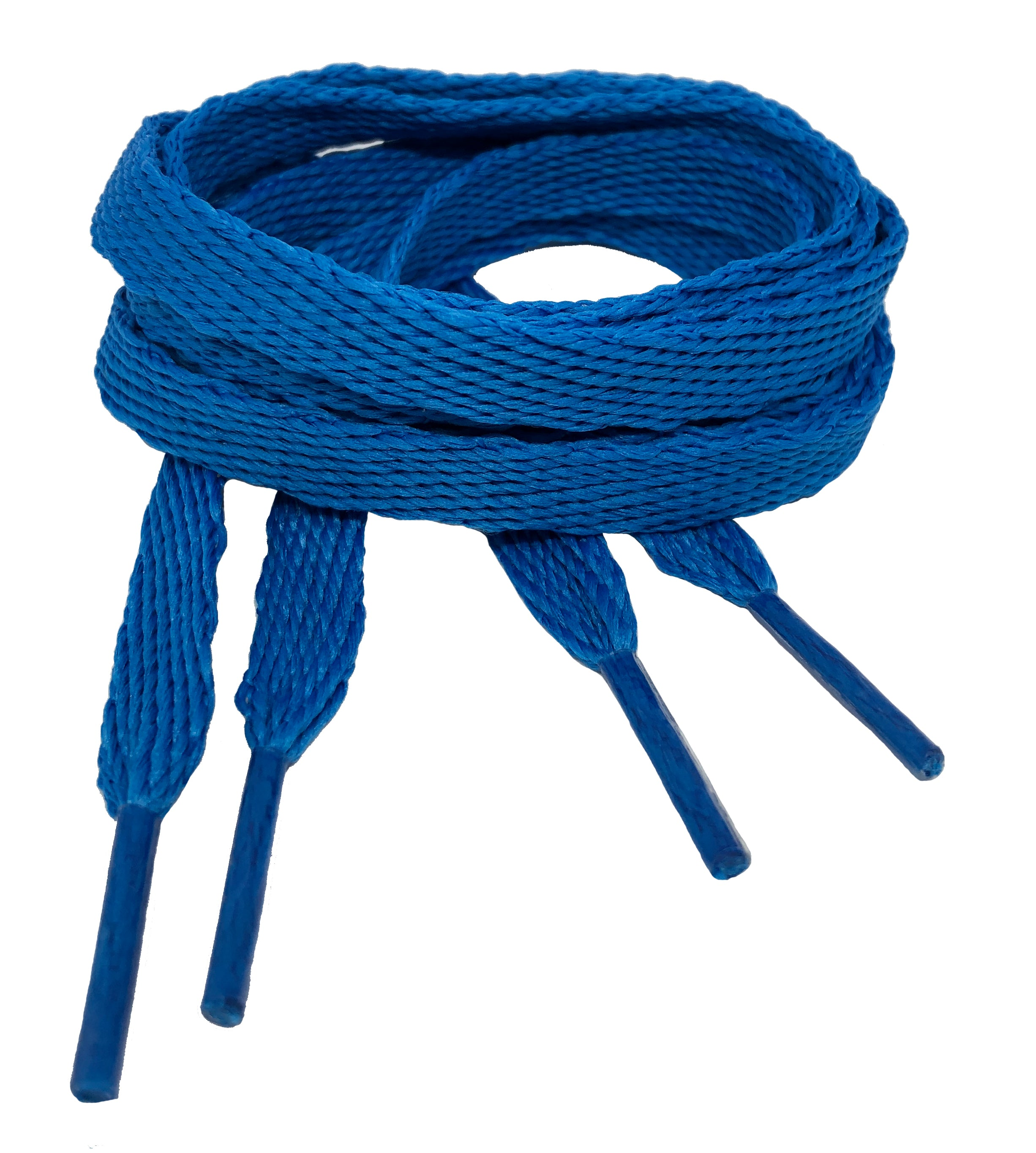 Flat Electric Blue Shoelaces - 10mm wide