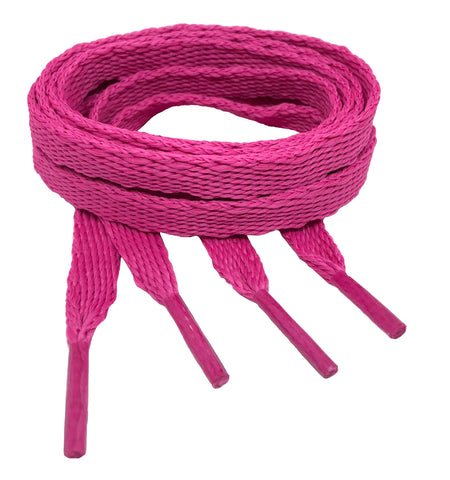 Flat Hot Berry Shoelaces - 10mm wide
