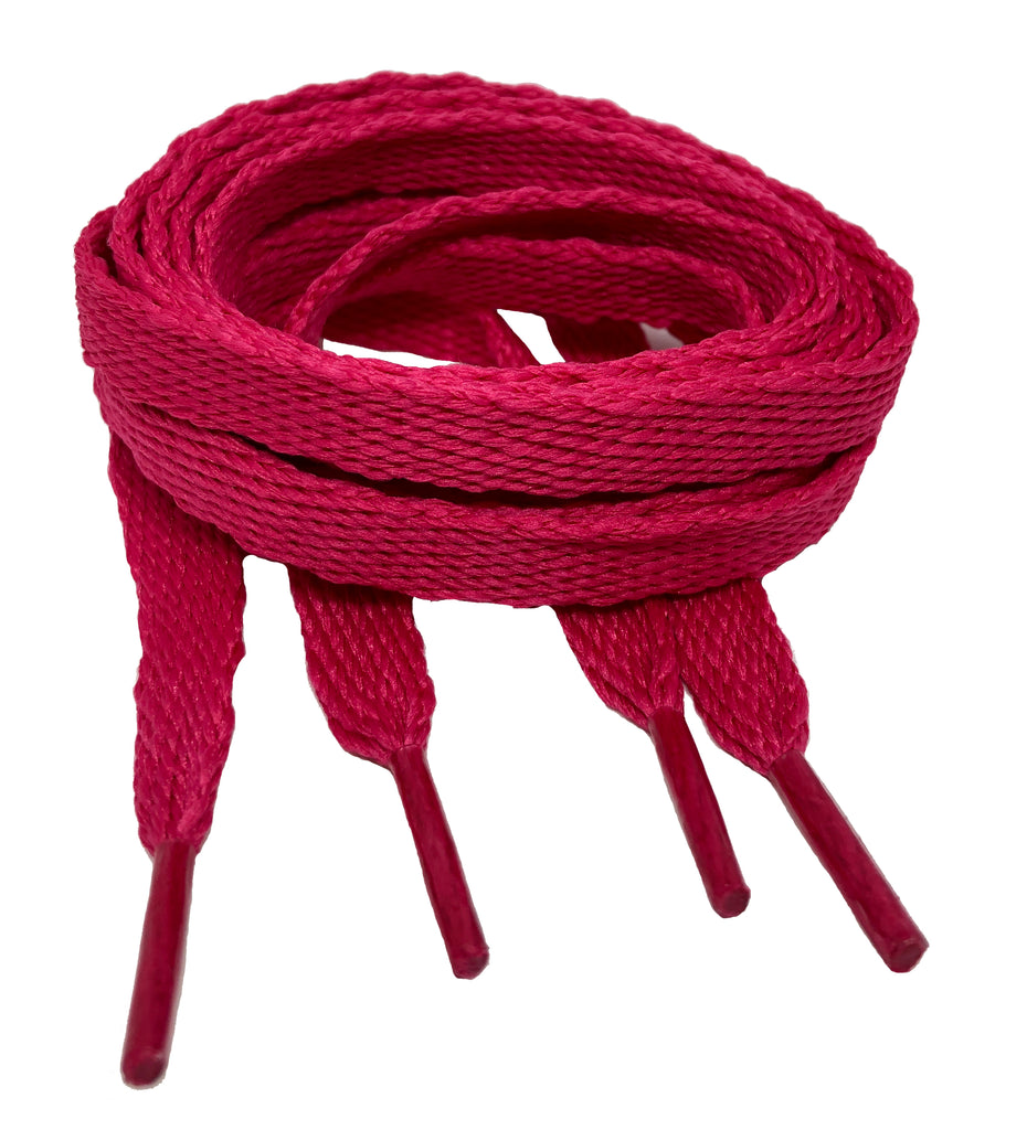Flat Hot Pink Shoelaces - 10mm wide