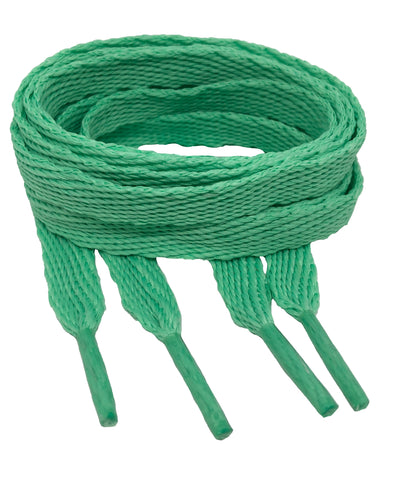Flat Jade Shoelaces - 10mm wide