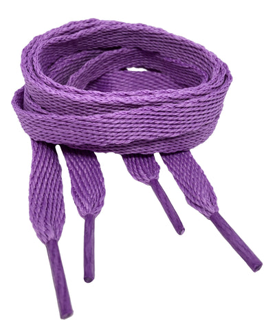 Flat Lilac Shoelaces - 10mm wide