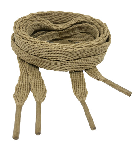 Flat Oatmeal Shoelaces - 10mm wide