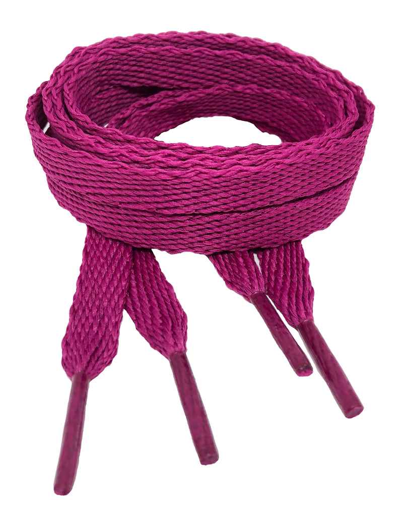 Flat Plum Shoelaces - 10mm wide