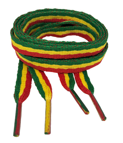 Flat Rasta Shoelaces - 10mm wide