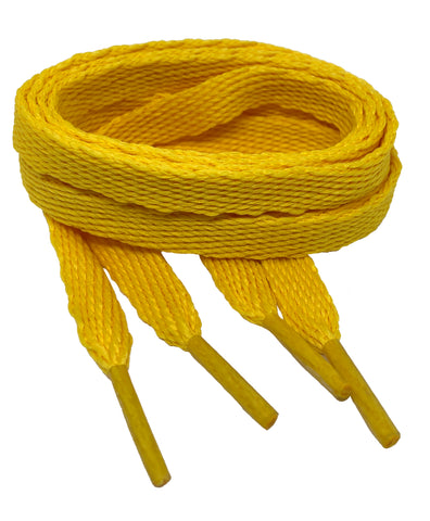 Flat Sun Yellow Shoelaces - 10mm wide