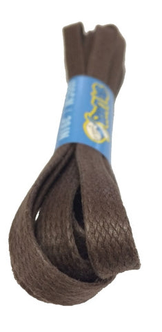 Flat Waxed Brown Cotton Shoe Laces