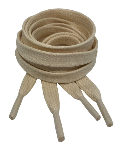 Flat Waxed Natural Cotton Shoe Laces