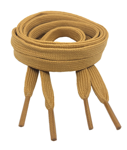 Flat Caramel Brown Shoelaces