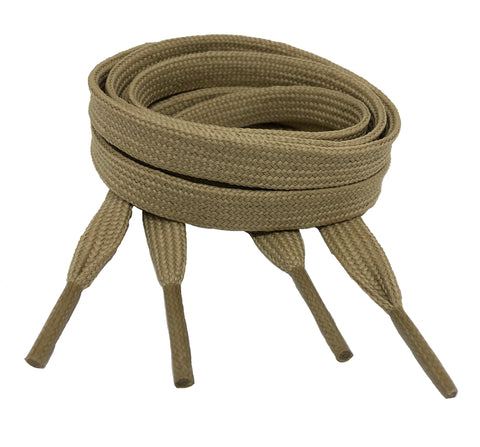 Flat Oatmeal Shoelaces - 8mm wide