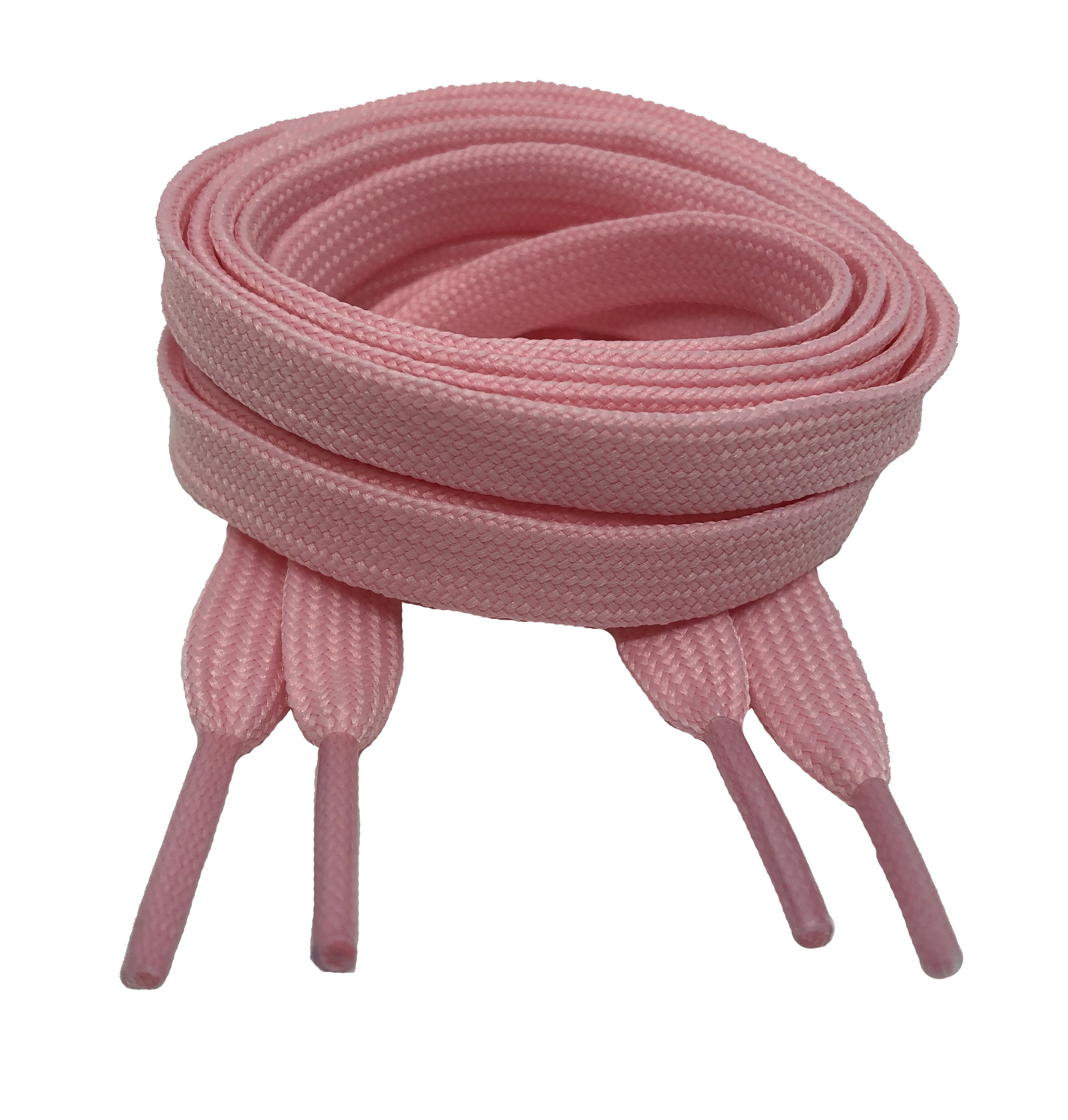 Flat Pink Shoelaces 8mm wide