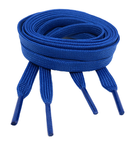 Flat Royal Blue Shoelaces 8mm wide