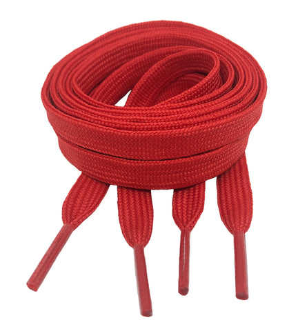 Flat Red Shoelaces 8mm wide