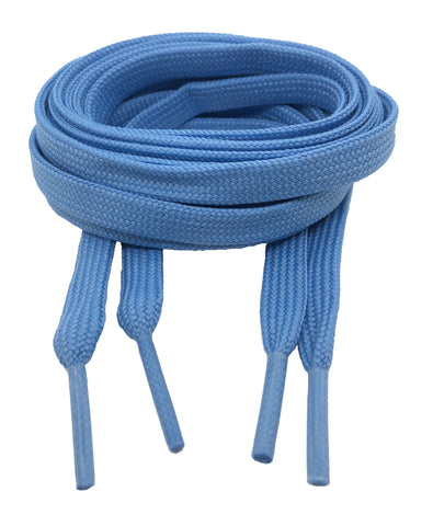 Flat Sky Blue Shoelaces 8mm wide