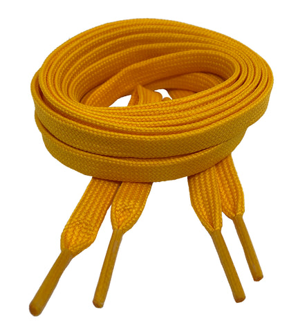 Flat Yellow Gold Shoelaces 8mm wide