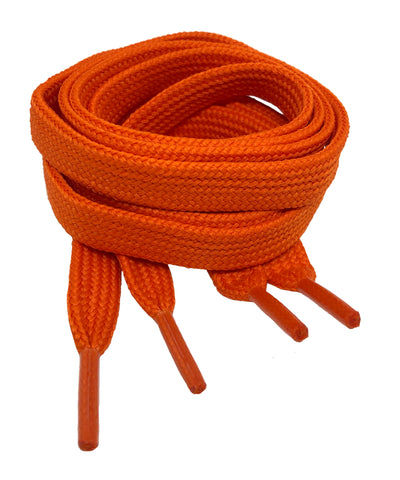 Fat Orange Shoelaces - 11mm wide