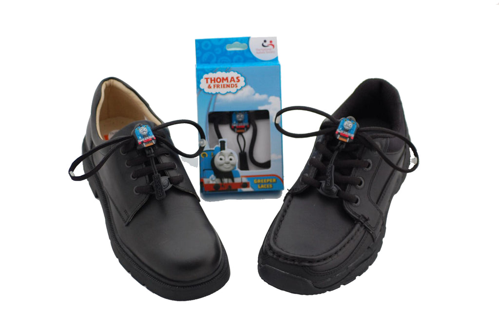 Greeper Childrens Black Round Shoelaces