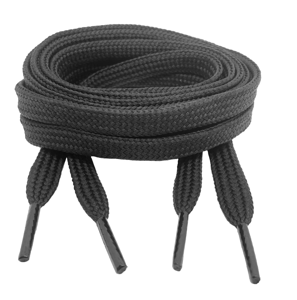 Flat Grey 10mm wide shoelaces
