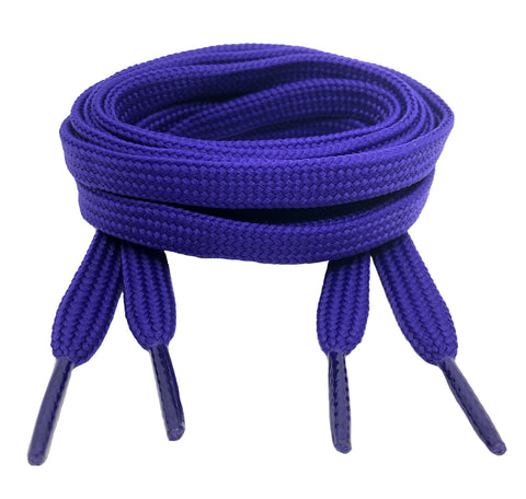 Flat Purple 10mm wide shoelaces