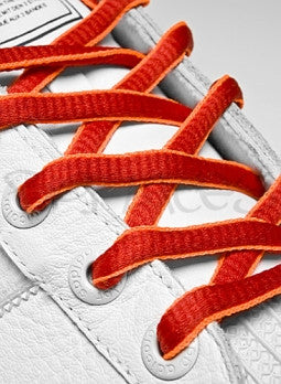 Red and Neon Orange Oval Shoelaces