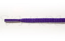 Violet and White Oval Shoelaces
