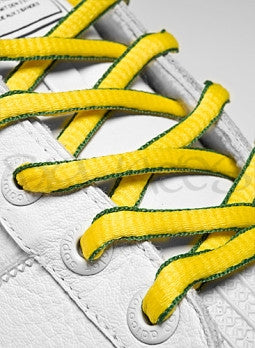 Yellow and Green Oval Shoelaces