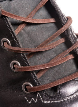 Dark Brown Leather Shoelaces