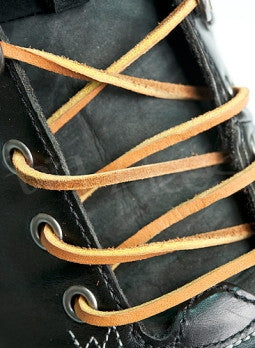 Light Brown Leather Shoelaces