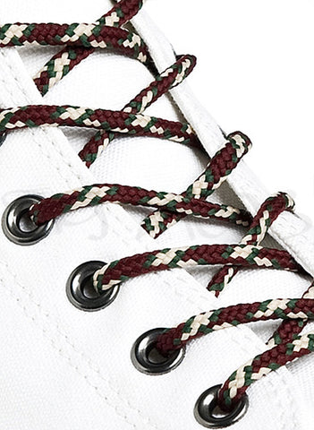 Round Camouflage Coloured Bootlaces - 3mm wide