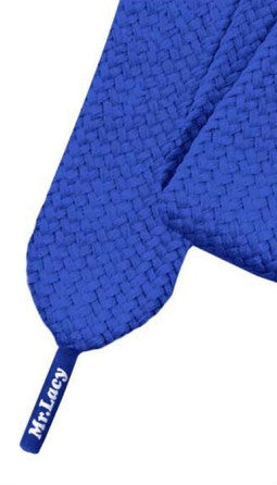 Mr Lacy Fatties - Wide Flat Royal Blue Shoelaces