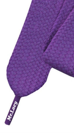 Mr Lacy Fatties - Wide Flat Violet Shoelaces